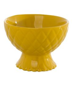 Love this Yellow Piña Pineapple Bowl on #zulily! #zulilyfinds