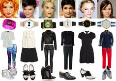 Image & Style Identity Cheat Sheet 007 - Gamines : Ethereal Gamine - Bjork, Romantic Gamine - Ginnifer Goodwin, Dramatic gamine - Gwen Stefani, my guess for Classic Gamine - Audrey Tautou, my guess for Gamine Ingenue - Carey Mulligan, Natural Gamine - Ellen Page.
