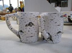 Etsy - Birch ceramic mugs