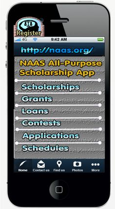 The best deals for scholarships/grants are not always on a desktop. Some are  on a smart-phone. Try this mobile link.  Over $1M of scholarships, and grants available. Use your mobile phone to get a scholarship.  http://www.naas.org/mobile/