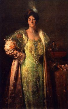 William Merritt Chase (American 1849–1916) [Impressionism, Portrait] Miss J. (also known as Portrait of Miss J.; Portrait - Content Johnson). 1902. Private Collection. – The Athenaeum