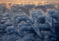 """John Pfahl Work from Métamorphoses de la Terre. """"Echoing his landmark """"Altered Landscapes"""" from the John Pfahl's latest series of photographs Distortion Photography, Pattern Photography, Above The Clouds, Giza, Stonehenge, Source Of Inspiration, Land Art, Alters, Photo Manipulation"""