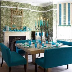 Formal Teal :) Dining Bench, Square Dining Tables, Dining Area, Dining Rooms