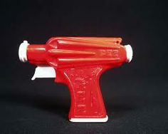 I'll Pezster You- Vintage Red Pez Gun with fin