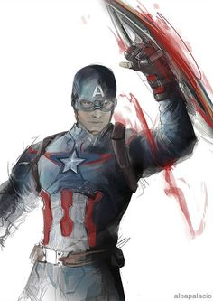 """albapalacio: I was in a mood for a """"fast colored Captain America, aka I´m not a model just this awesome"""" - Visit now to grab yourself a super hero shirt today at 40% off!"""
