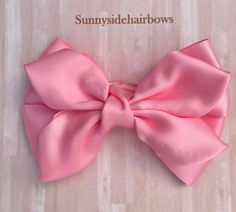 Bows Pink Boutique hairbow, Pink Hair bow Clip, Pink bows for girls, Pink Stacked Bow, Pink ponytail Flower Hair Bows, Pink Hair Bows, Butterfly Hair, Handmade Hair Accessories, Wedding Hair Accessories, Bow Hair Clips, Bow Clip, Champagne Hair, School Hair Bows
