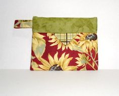 My Sunflowers Small Snappy Pouch | vabeachquilter - Bags & Purses on ArtFire