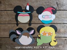 Disney Themed Scrapbooking Embellishments or Window Decorations: Peter Pan's Tiger Lily, Mr. Smee, Lost Boy & Mermaid by ScrapWithMeToo on Etsy Disney Cards, Disney Diy, Disney Ideas, Disney Ornaments, Paper Ornaments, Mickey Head, Mickey Mouse, Peter Pan Mermaids, Disney Patches
