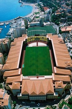 The Stade Louis II is a stadium located in the Fontvieille district of Monaco. It has served as a venue for both football, being the home of AS Monaco. Football Pitch, Football Is Life, World Football, Soccer Stadium, Football Stadiums, Football Soccer, Seahawks Stadium, As Monaco, Countries Around The World