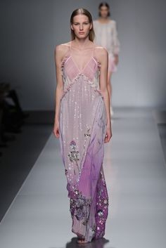 Gorgeous Lilac and Lavender dress by Blumarine RTW Spring 2013