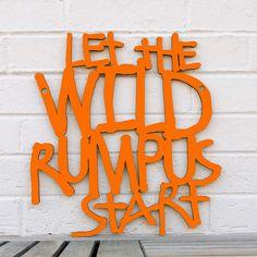 BRIKA.com | Wild Rumpus Cutout (Orange) #lettering #typography