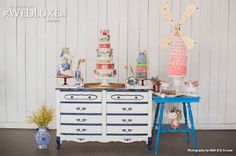 Dutch inspired sweet table as seen in Wedluxe By Nadia and Co Wedding Gift List, Wedding Sets, Vintage Dessert Tables, Dessert Buffet, Painted Cakes, House Of Holland, Wedding Desserts, Rose Design, Creative Decor