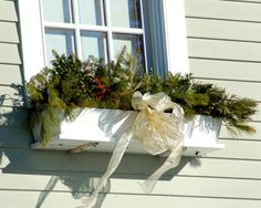 Thinking out of the box: Christmas window boxes are another way to inject tasteful holiday decor into your yard. See more ideas here: http://landscaping.about.com/od/winterlandscaping/ss/16-Ideas-for-Tasteful-Christmas-Yard-Decorations.htm