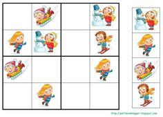 PETIT MON: MANDALES i SUDOKUS D' HIVERN Preschool Education, Preschool Math, Math Activities, Sudoku Puzzles, Grande Section, File Folder Games, Matching Games, English Lessons, Christmas Activities