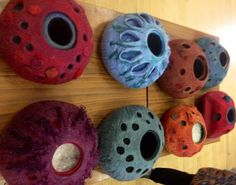 Felting courses at a dedicated felting studio, Felt in the Factory - DOUBLE RESIST VESSEL NOV 2014