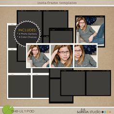 Explore finest collection of digital scrapbook designs by Sahlin Studio, designer at The Lilypad. Photoshop Tips, Photoshop Tutorial, Frame Template, Templates, Polaroid Photos, Digital Scrapbooking Layouts, My Scrapbook, List, Photo Book