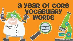 A Year of Core Vocabulary Words-A blueprint for core word TEACHING. Have fun!
