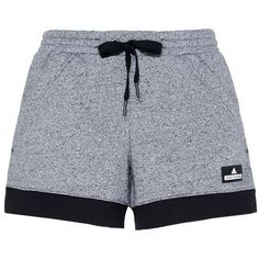 Adidas by Stella McCartney Black Essentials Knit Shorts (155 BRL) ❤ liked on Polyvore featuring shorts, bottoms, short, black and adidas