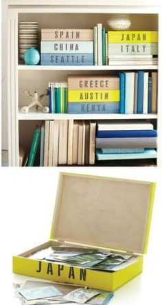 Designed boxes for travel keepsakes.  So cool!