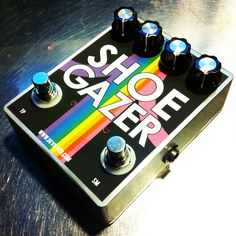 Someday: rainbow Shoe Gazer fuzz pedal. $200.00, via Etsy.