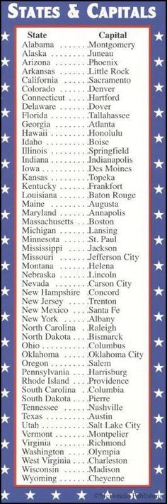 50 States 50 Capitals Song With Free Worksheets And