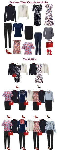 A business wear capsule wardrobe from Looking Stylish