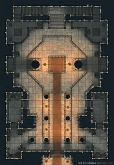 Temple - Roll for Initiative - RPG Medieval & Fantasy Maps - Nave Star Wars, Star Wars Rpg, Dungeons And Dragons Homebrew, D&d Dungeons And Dragons, Dcc Rpg, Fantasy World Map, Fantasy Places, Pathfinder Maps, Rpg Map