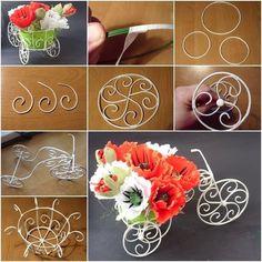 ARTE COM QUIANE - Paps,Moldes,E.V.A,Feltro,Costuras,Fofuchas 3D: Mini bicicleta para decoração passo a passo