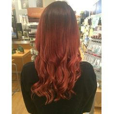 """Still loving this red ombre colour correction I did on Friday. #aveda #avedacolor #hair #ombre #redombre"""