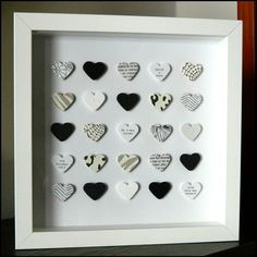 Personalised Wedding Day Box Frame Picture Black by ElsieBobbins Frame Crafts, Diy Crafts, Wedding Gifts, Wedding Day, Deep Box Frames, Picture Frame Art, Black And White Heart, Wedding Frames, Hobbies And Crafts