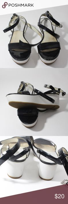 Micheal Kors Platform Wedge Sandals Size 8.5M  Leather Upper  7/10 condition KORS Michael Kors Shoes Sandals