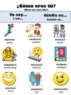 Descriptive adj in Spanish and how to use them handout on Teachers Pay Teachers