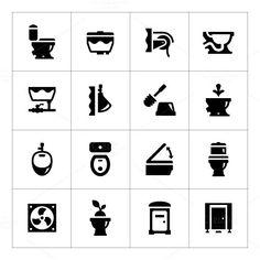 Set icons of toilet. $5.00