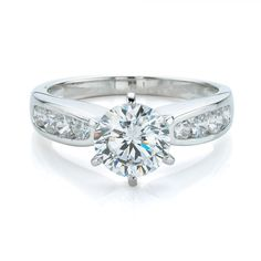 Claw and Channel Set Engagement Ring | Secrets Shhh