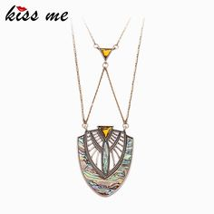 Geometric Shell Pendant Necklace Top-Rated Summer Jewelry Long Brass Chain Necklace Great, huh?Get it here --->  http://www.servjewelry.com/product/kiss-me-brand-geometric-shell-pendant-necklace-top-rated-summer-jewelry-long-brass-chain-necklace/ #shop #beauty #Woman's fashion #Products #homemade