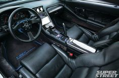 1991 acura NSX NSX R black interior conversion 08