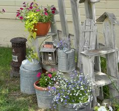 Shabby Chic Garden Decor | Shabby Chic Garden With Plants