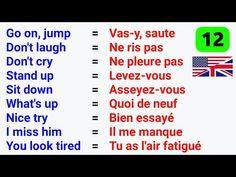 French Language Basics, French Language Lessons, Spanish Language Learning, French Lessons, English Lessons, Basic French Words, French Phrases, How To Speak French, Learn French