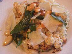 Krémové risotto s pečeným květákem a mandlemi Risotto, Potato Salad, Potatoes, Chicken, Meat, Ethnic Recipes, Food, Potato, Essen