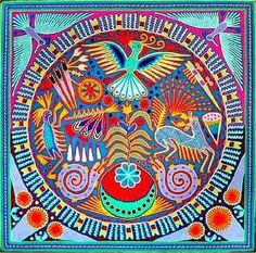 Bienvenue ! avec un art mexicain aux fils de laine...