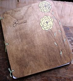 Custom Wedding Guest Book  Ranunculus by LazyLightningArt on Etsy, $40.00