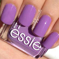 Purple Essie nails!