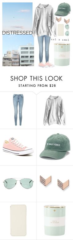 """Fresh Start"" by jaqsancake ❤ liked on Polyvore featuring Miss Selfridge, Converse, Madden, DKNY, FOSSIL, ADOPTED, Kate Spade and DestressedDenim"