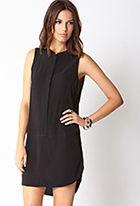 Minimalist Drop Waist Shirt Dress