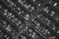 """""""Automatic"""" by Los Angeles based photographer Mike Kelley. Stunning black and white aerial."""