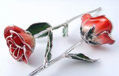 Platinum dipped forever rose