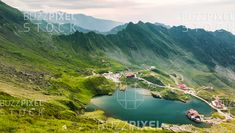 Royalty Free (RF) Photos / Vectors / Ready Made Logos / by BuzzPixelStock Top view of Balea Lake in Romania Photography For Sale, Top View, Romania, River, Stock Photos, Outdoor, Outdoors, Rivers, Outdoor Games