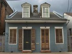 a creole cottage near burgundy in faubourg marginy. new orleans.