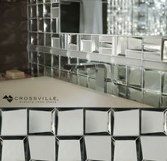 #walltilewednesday Sideview Glass tiles