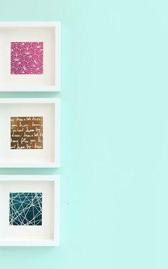 DIY Foiled Negative Wall Prints